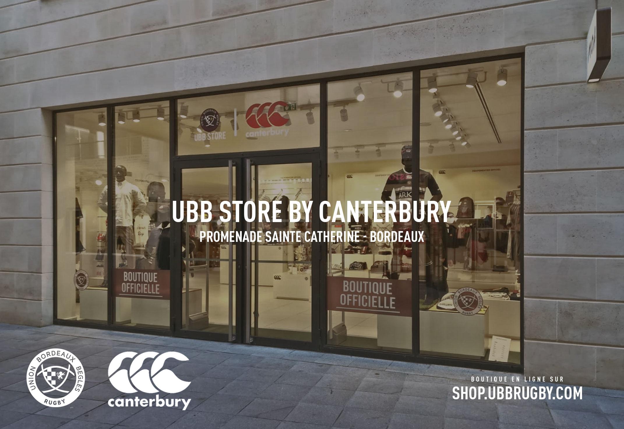 331c1915d7f407 L'UBB Store ouvre ses portes promenade Sainte Catherine - Actualités ...