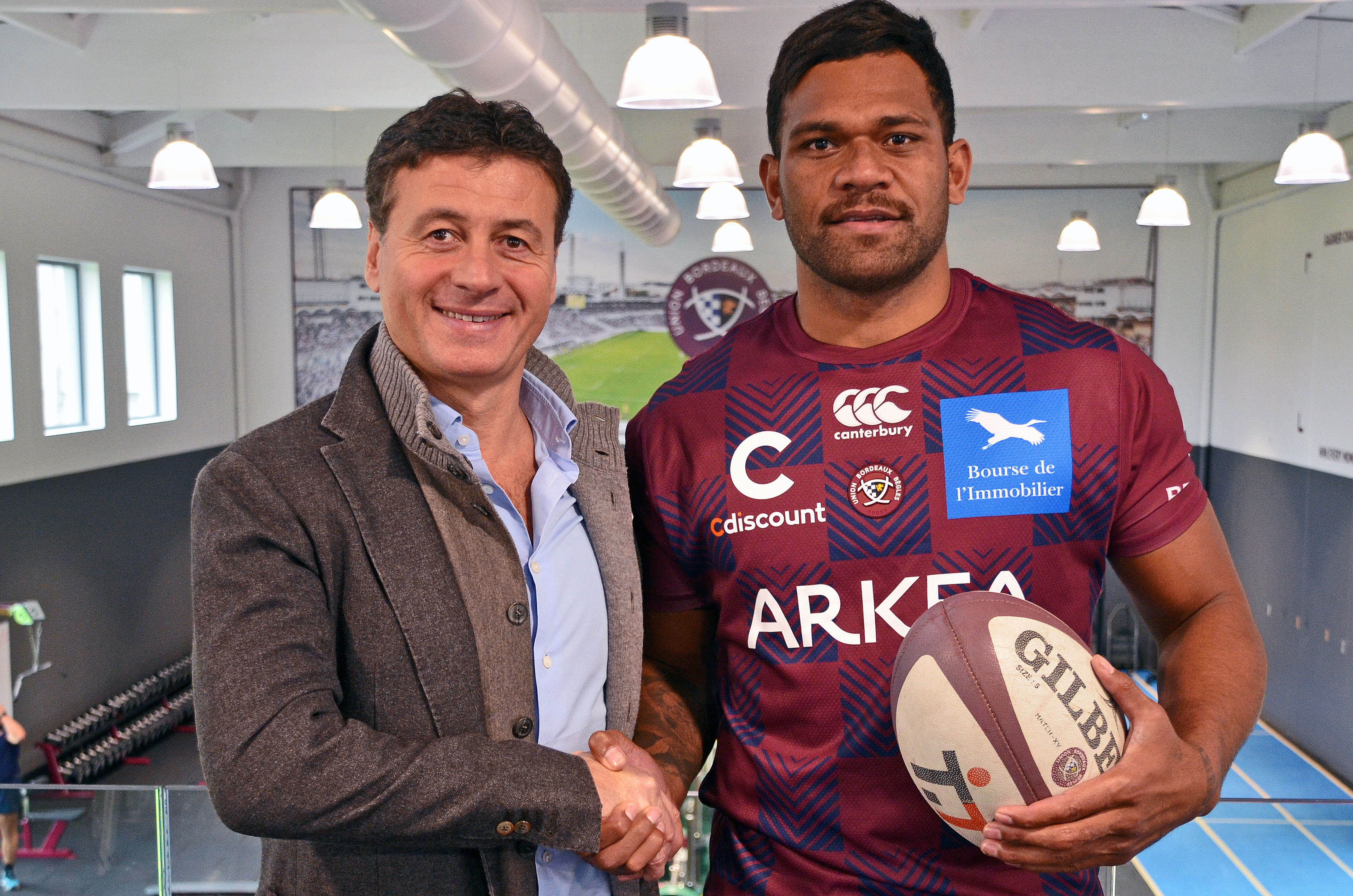 Seta Tamanivalu All Black à l'Union Bordeaux Bègles