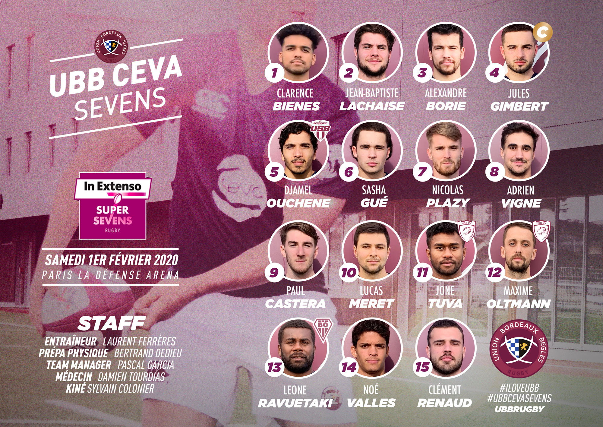Equipe UBB Ceva Sevens - 2019 - In Extenso Supersevens