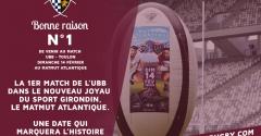 5 bonnes raisons de venir au stade pour UBB - Toulon