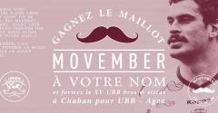 Movember : le maillot à votre nom