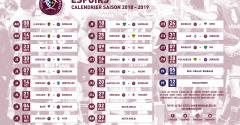 Espoirs : Le calendrier de la saison 2018 - 2019 est là !