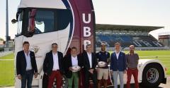 Scania - Transports Cazaux : deux camions aux couleurs de l'UBB !