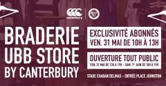 Braderie UBB Store by Canterbury