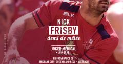 Nick Frisby arrive en tant que joker médical