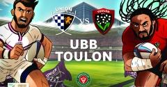 Les arbitres du match UBB - Toulon