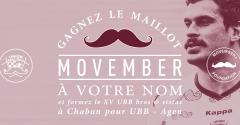 Movember : gagnez le maillot à votre nom !